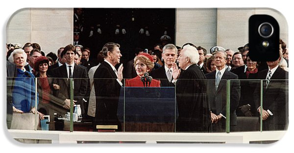George Bush iPhone 5s Case - Ronald Reagan Inauguration - 1981 by War Is Hell Store