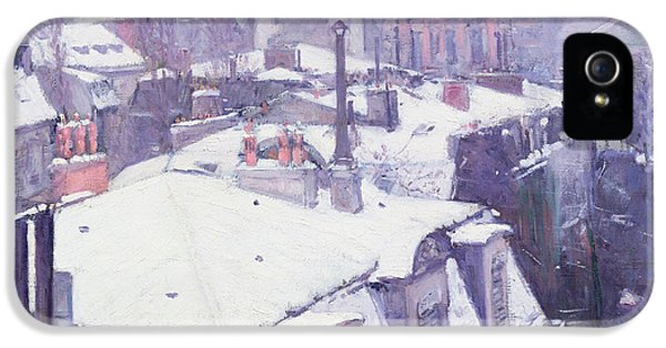 Roofs Under Snow IPhone 5s Case by Gustave Caillebotte