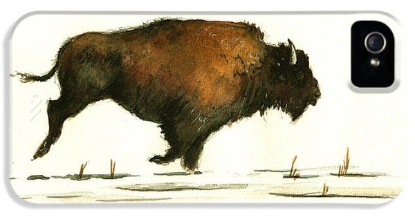 Running Buffalo IPhone 5s Case by Juan  Bosco