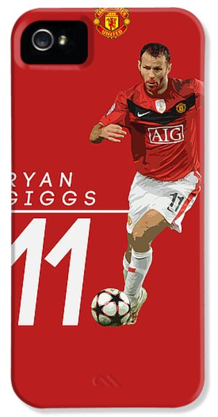 Ryan Giggs IPhone 5s Case by Semih Yurdabak