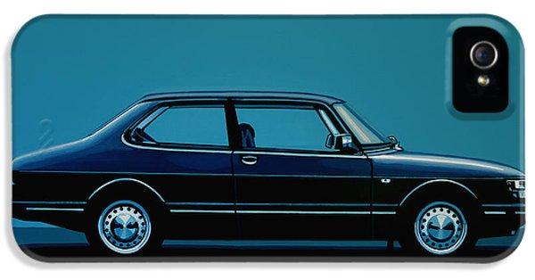 Car iPhone 5s Case - Saab 90 1985 Painting by Paul Meijering