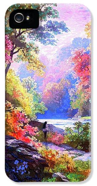 Figurative iPhone 5s Case - Sacred Landscape Meditation by Jane Small