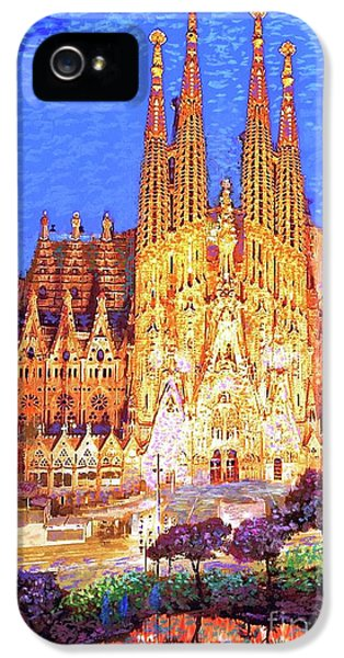 Sagrada Familia At Night IPhone 5s Case by Jane Small