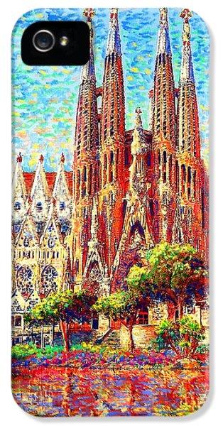Barcelona iPhone 5s Case - Sagrada Familia by Jane Small