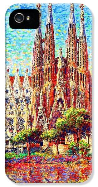 Sagrada Familia IPhone 5s Case by Jane Small