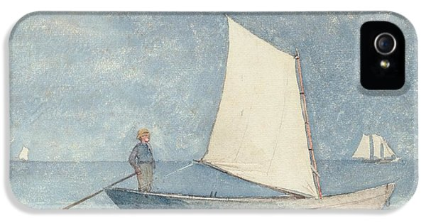 Boat iPhone 5s Case - Sailing A Dory by Winslow Homer