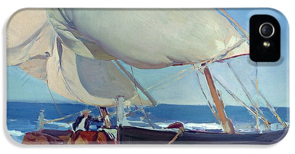 Boat iPhone 5s Case - Sailing Boats by Joaquin Sorolla y Bastida