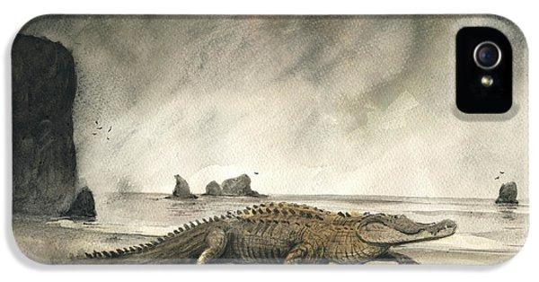 Alligator iPhone 5s Case - Saltwater Crocodile by Juan Bosco