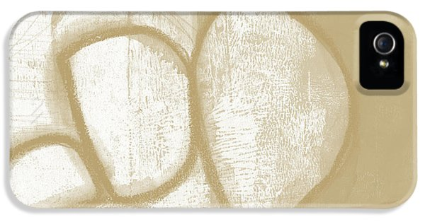 Camel iPhone 5s Case - Sand And Stone 1- Contemporary Abstract Art By Linda Woods by Linda Woods