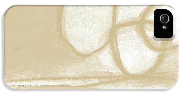 Camel iPhone 5s Case - Sand And Stone 6- Contemporary Abstract Art By Linda Woods by Linda Woods