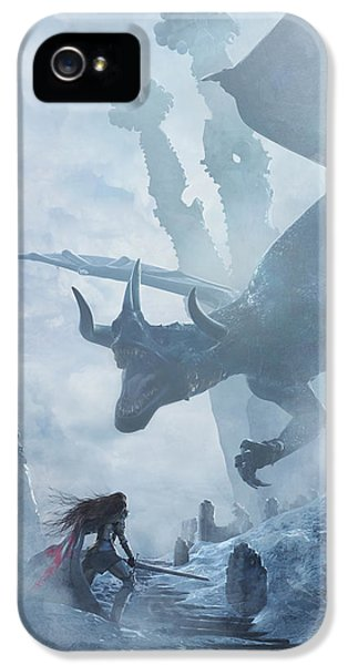 Santa Georgina Vs The Dragon IPhone 5s Case by Guillem H Pongiluppi
