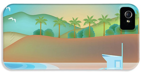 Santa Monica iPhone 5s Case - Santa Monica California Horizontal Scene by Karen Young