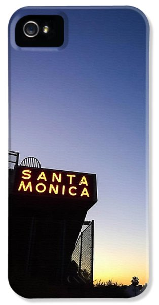 Santa Monica iPhone 5s Case - Santa Monica Sunrise by Art Block Collections