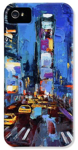 Saturday Night In Times Square IPhone 5s Case by Elise Palmigiani