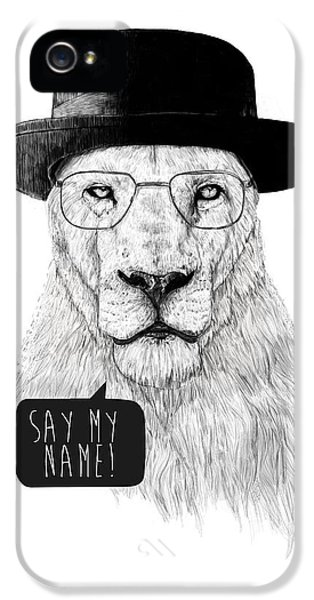 Lion iPhone 5s Case - Say My Name by Balazs Solti