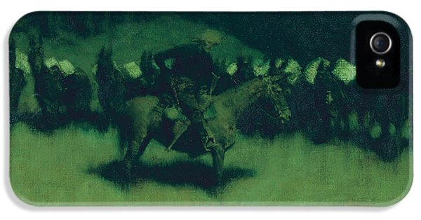 Scare In A Pack Train IPhone 5s Case by Frederic Remington
