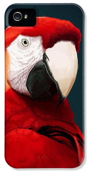 Macaw iPhone 5s Case - Scarlet Macaw by KC Gillies