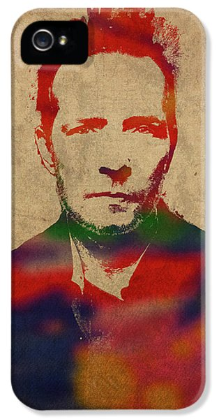 Stone Temple Pilots iPhone 5s Case - Scott Weiland Stone Temple Pilots Watercolor Portrait by Design Turnpike