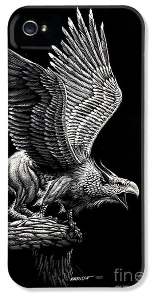 Griffon iPhone 5s Case - Screaming Griffon by Stanley Morrison