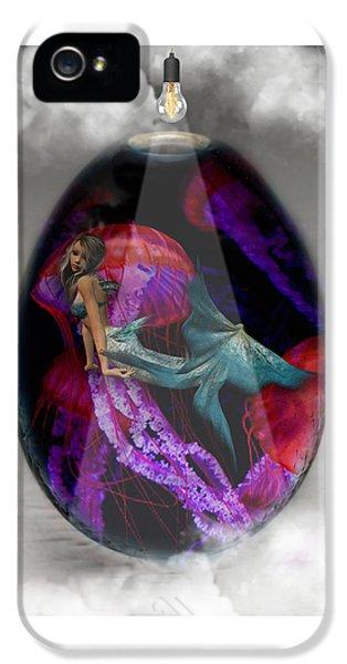Sea Creature Mermaid Jellyfish Art IPhone 5s Case