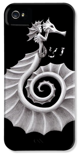 Seahorse Siren IPhone 5s Case by Sarah Krafft