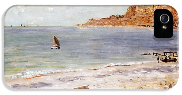 Boat iPhone 5s Case - Seascape At Sainte Adresse  by Claude Monet