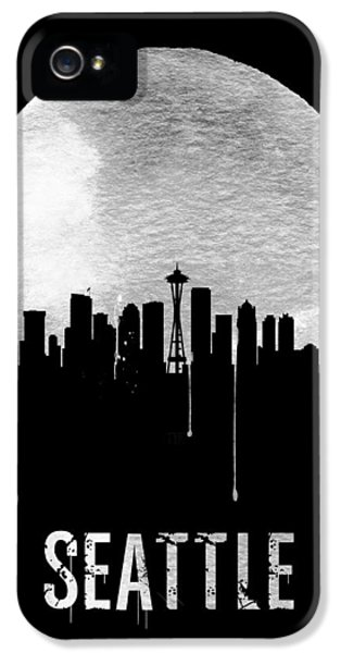 Seattle Skyline iPhone 5s Case - Seattle Skyline Black by Naxart Studio