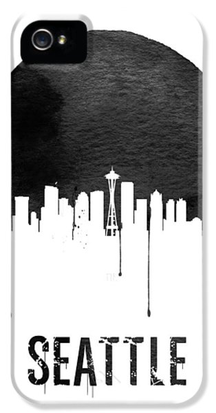 Seattle Skyline iPhone 5s Case - Seattle Skyline White by Naxart Studio