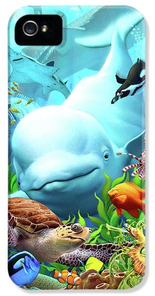 Penguin iPhone 5s Case - Seavilians 2 by Jerry LoFaro