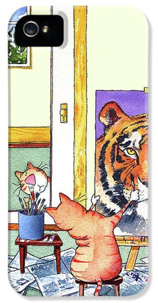 Portraits iPhone 5s Case - Self Portrait, Tiger by Jim Tweedy