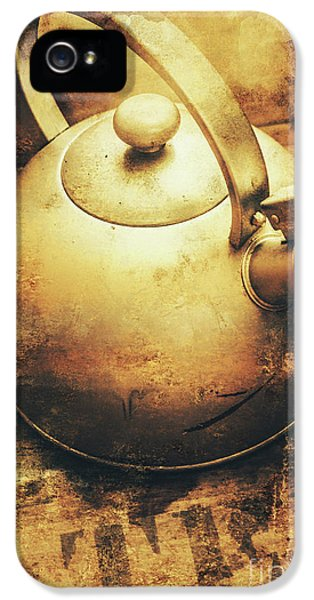 Kettles iPhone 5s Case - Sepia Toned Old Vintage Domed Kettle by Jorgo Photography - Wall Art Gallery