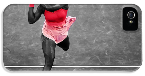 Serena Williams Strong Return IPhone 5s Case by Brian Reaves
