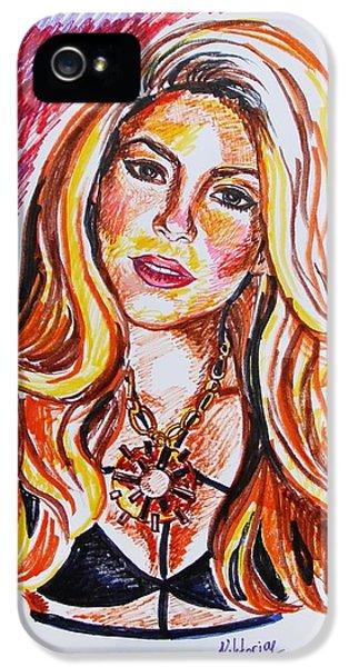 Shakira iPhone 5s Case - Shakira by Viktoryia Lavtsevich