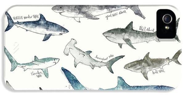 Sharks - Landscape Format IPhone 5s Case by Amy Hamilton