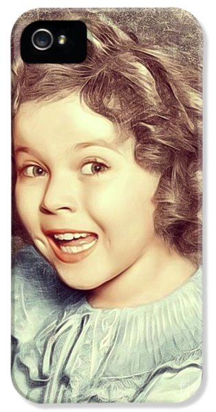 Shirley Temple iPhone 5s Case - Shirley Temple, Actress by Mary Bassett