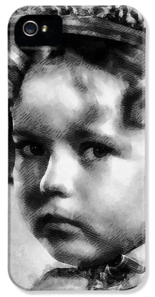 Shirley Temple iPhone 5s Case - Shirley Temple Vintage Actress by Frank Falcon