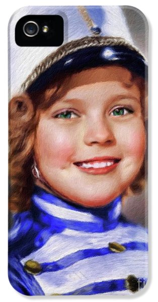 Shirley Temple iPhone 5s Case - Shirley Temple, Vintage Actress by Mary Bassett
