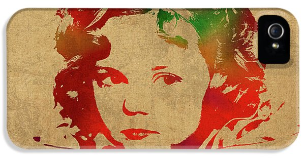 Shirley Temple Watercolor Portrait IPhone 5s Case by Design Turnpike