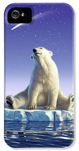 Polar Bear iPhone 5s Case - Shooting Star by Jerry LoFaro