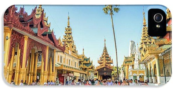 Burmese Python iPhone 5s Case - Shwedagon Pagoda by Delphimages Photo Creations