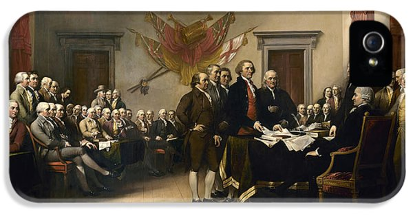 Signing The Declaration Of Independence IPhone 5s Case by War Is Hell Store