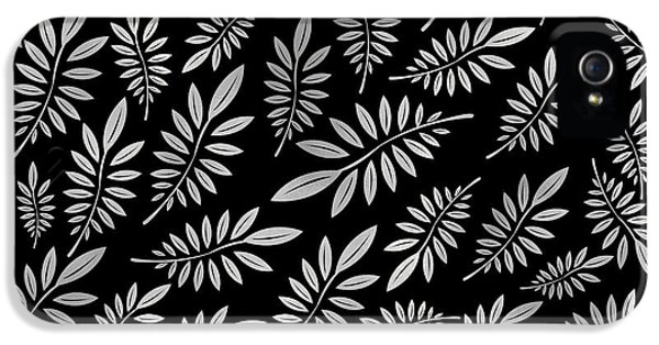 Pattern iPhone 5s Case - Silver Leaf Pattern 2 by Stanley Wong