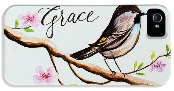 Garden iPhone 5s Case - Sing Grace by Elizabeth Robinette Tyndall