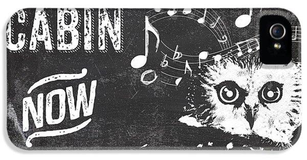 Singing Owl Cabin Rustic Sign IPhone 5s Case
