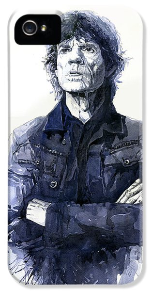 Figurative iPhone 5s Case - Sir Mick Jagger by Yuriy Shevchuk