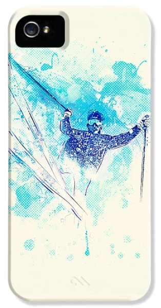 Skiing Down The Hill IPhone 5s Case by BONB Creative