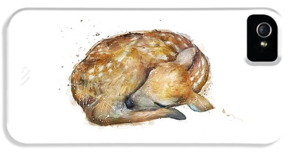 Sleeping Fawn IPhone 5s Case by Amy Hamilton
