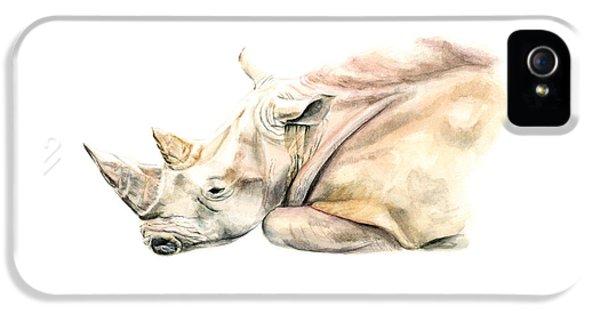 Small Colour Rhino IPhone 5s Case by Elizabeth Lock