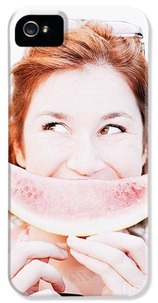 Smiling Summer Snack IPhone 5s Case by Jorgo Photography - Wall Art Gallery