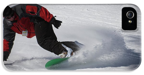IPhone 5s Case featuring the photograph Snowboarder On Mccauley by David Patterson